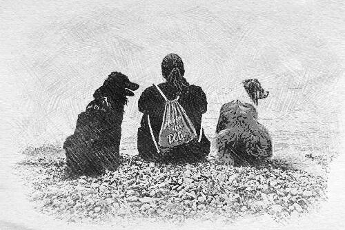 Nadja Meier mit Hunden